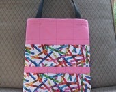 Pretty in Pink Crayon Tote Bag