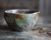 rustic earthy small pottery bowl