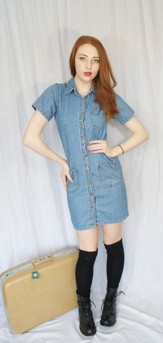 1990s Denim Dress