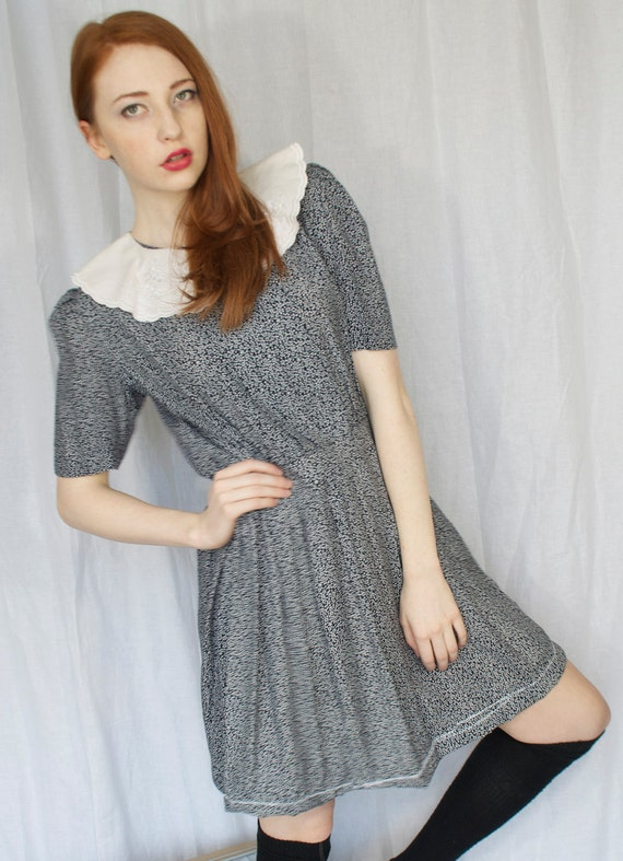 Re-imagined Vintage Dress with Peter Pan Collar