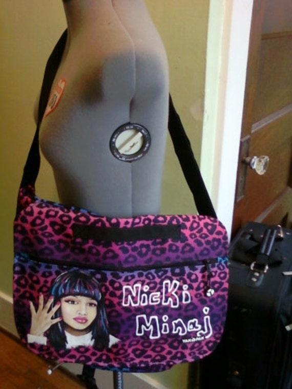 Nicki Minaj hand painted MESSENGER BAG