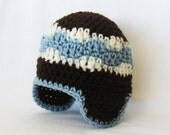 CROCHET PATTERN Aviator Hat (5 sizes included from newborn-adult) Instant Download