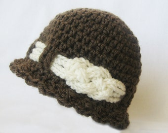 CROCHET PATTERN - Knotted Beanie - (6 sizes included) women's hat pattern baby beanie toddler knotted hat PDF instant download