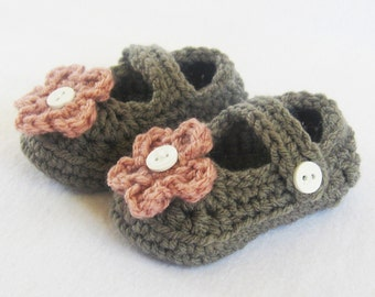 Baby CROCHET PATTERN - Mary Jane Booties - Instant Download PDF pattern baby girl shoes crochet shoe pattern