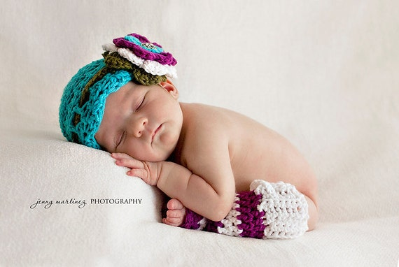 CROCHET PATTERN Blueberry Muffin Beanie/Headband & Leg Warmers (4 sizes included) Instant Download