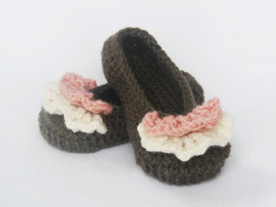 Toddler CROCHET PATTERN Toddler Ruffle Ballet Flats (6 sizes included from toddler 5-10) Instant Download