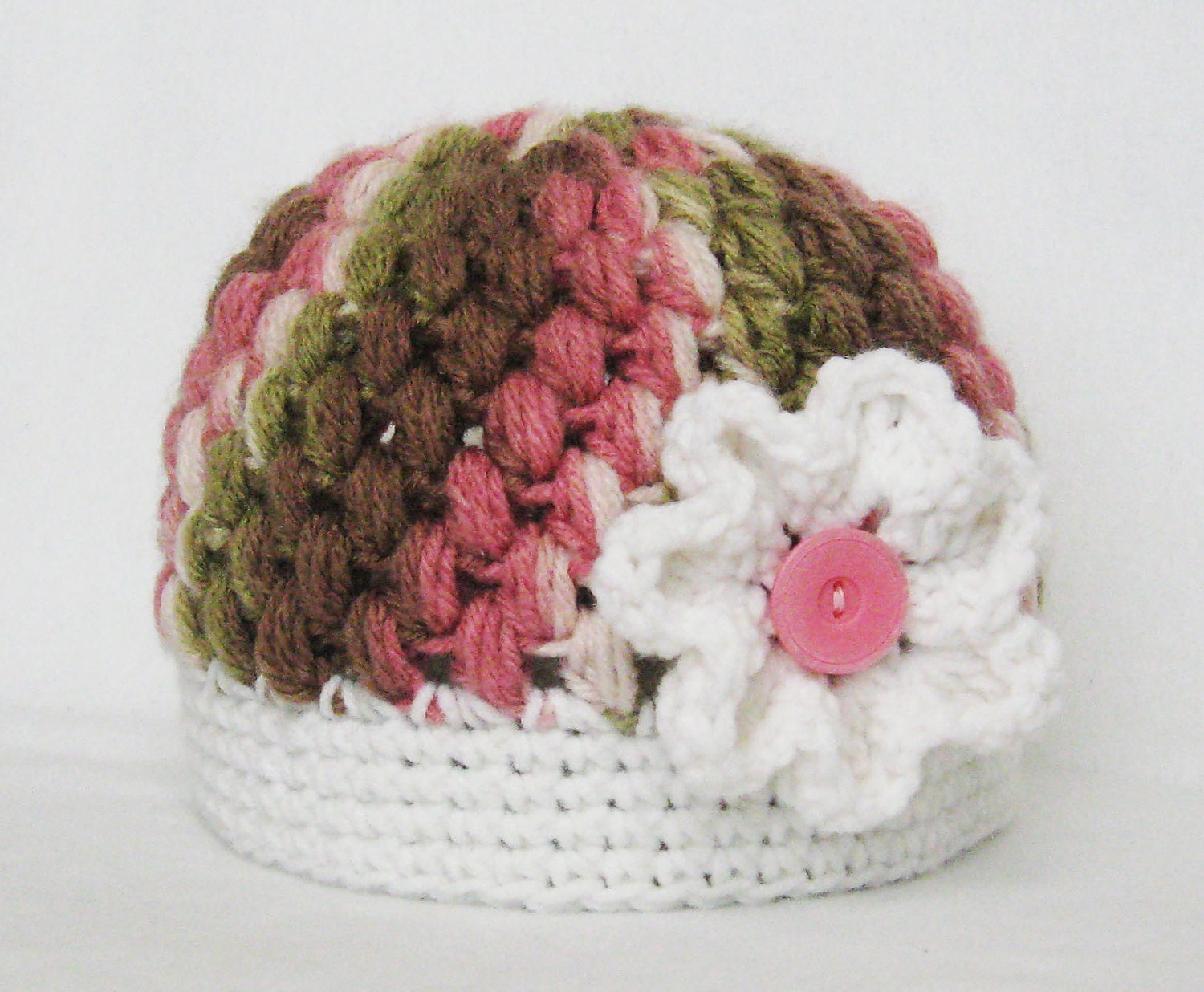 Crochet Jasmine Stitch Hat : CROCHET PATTERN Zebra Puff Stitch Beanie by YarnBlossomBoutique