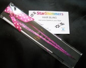 Hair Tinsel Extensions : Sizzling Hot Pink Hair Bling (36 inch) 15-20 strands per pack