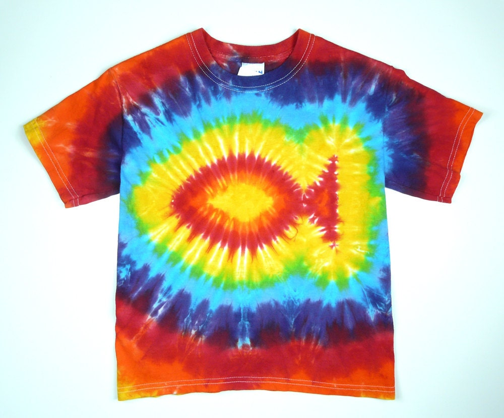 Infant rainbow fish tie dye t shirt eco friendly for Custom tie dye t shirts