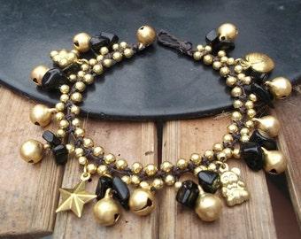 Thai handmade bracelet black cute brass pendants fashion on Summer Collection