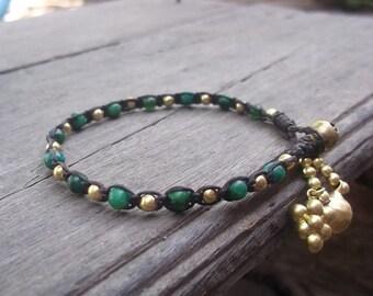 Thai bracelet handmade gold  brass BR007/summerbracelet/bohobracelet