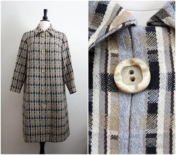 Vintage 50s Mad Men Vogue Couturier Design Swing Coat. Size S/M