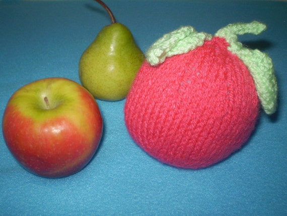 Pink Baby Apple Rattle