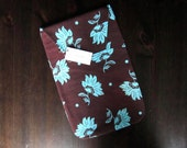 Baby Diaper Clutch - Diaper Holder Blue and Brown - Sweet Delightful