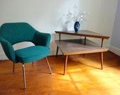 Mid Century Tiered Corner End Table