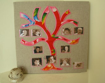 Precious gift idea. Personalized tree with all the family . Girls kids nursery room decor