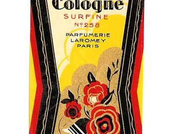 French Art Deco Perfume Label