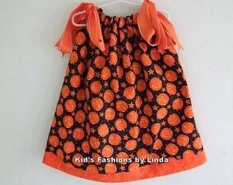 Jack O Lantern Pillowcase Dress-Great for Pumpkin Patch