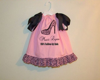 Pink Leopard Shoe Pillowcase Dress