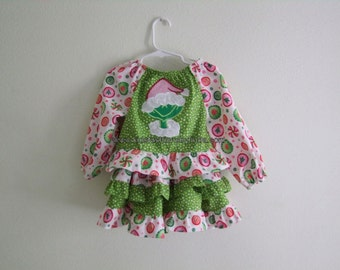 Christmas Fun Peasant Top and Double Ruffle Twirl Skirt