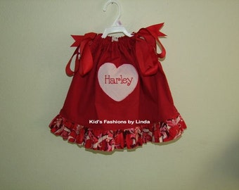 Personalized Heart Pillowcase Dress