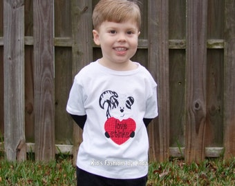 Love Stinks Valentine White/Black Long Sleeve Tshirt