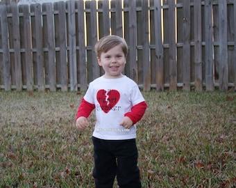 Lil Heartbreaker Valentine Red/White Long Sleeve Tshirt