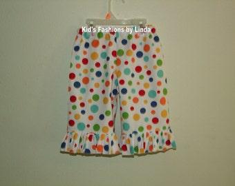Multi-Color Dot Ruffle Pants