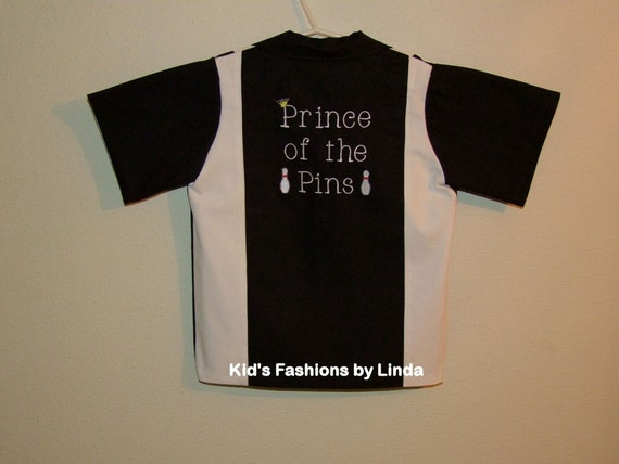 Black/White Prince of the Pins Bowling Shirt
