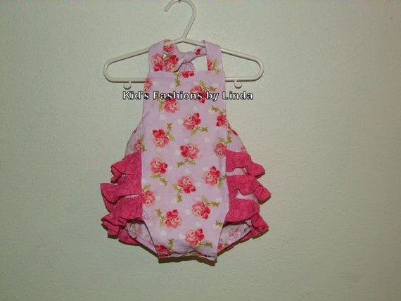 Roses Baby/Toddler Ruffle Bubble Romper-Personalization NOT included