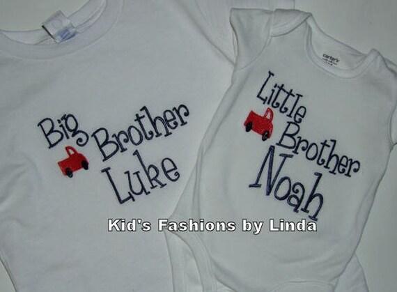 Big Brother/Little Brother Tshirt Bodysuit Set