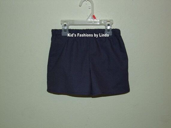 Navy Pin Dot Shorts