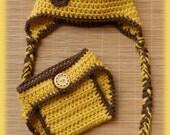 Giraffe Hat & Diaper Cover Set