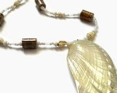 She Sells Sea Shells paper bead necklace