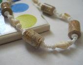 She Sells Sea Shells paper bead bracelet
