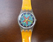 Vintage swatch watch Rising Star LK135...NEW in original box