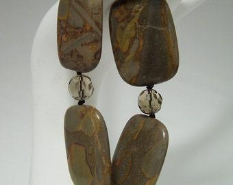 Romanian Fossil & Smoky Quartz Bracelet 054BA