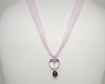 Amethyst Heart Necklace 015FD