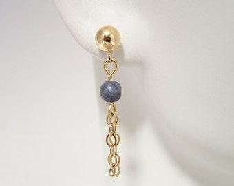 Blue Coral Earrings 070E