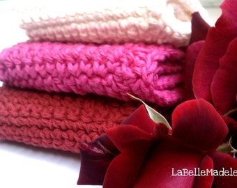 wash cloths/dish cloths RED Rose
