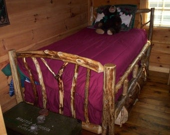 Custom Cedar Twin Bed With Storage