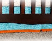 Boy Crib Skirt & Pillow Sham - CUSTOM for LAUREL