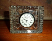 Waterford / Crystal Clock / Desk Clock / Vintage / England / TIme