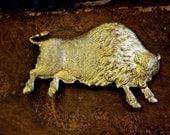 Vintage Big Buffalo Bison Stamping ( 1 pc)