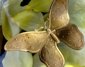 Big Vintage Dotted Butterfly (1 pc)