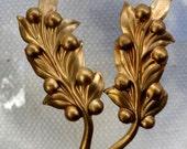 Vintage Mediterranean Olive Branch (2 pc)