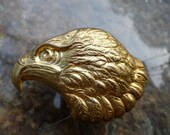 Large Eagle or Hawk Head Stamping (1 pc)