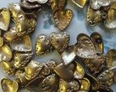Tiny Sweet Hearts with Victorian pattern (6pc)