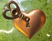 Vintage Heart with Key ( 2 parts)