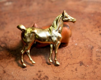 English Horse Stamped from Brass (2 pc)